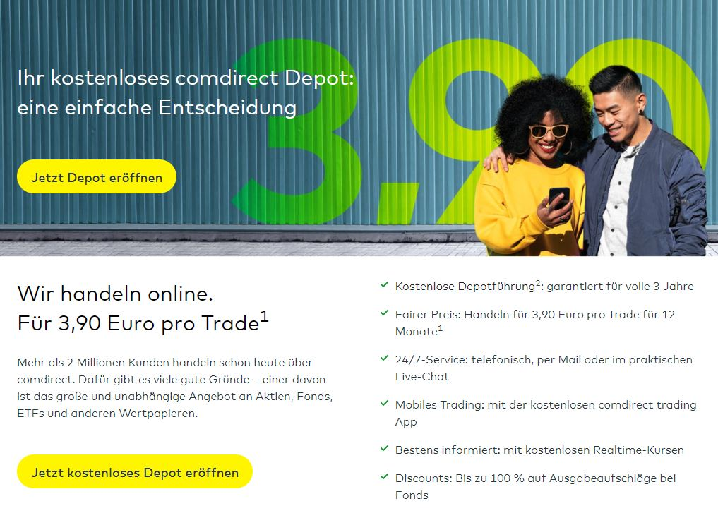Comdirect Online-Broker und Girokonto