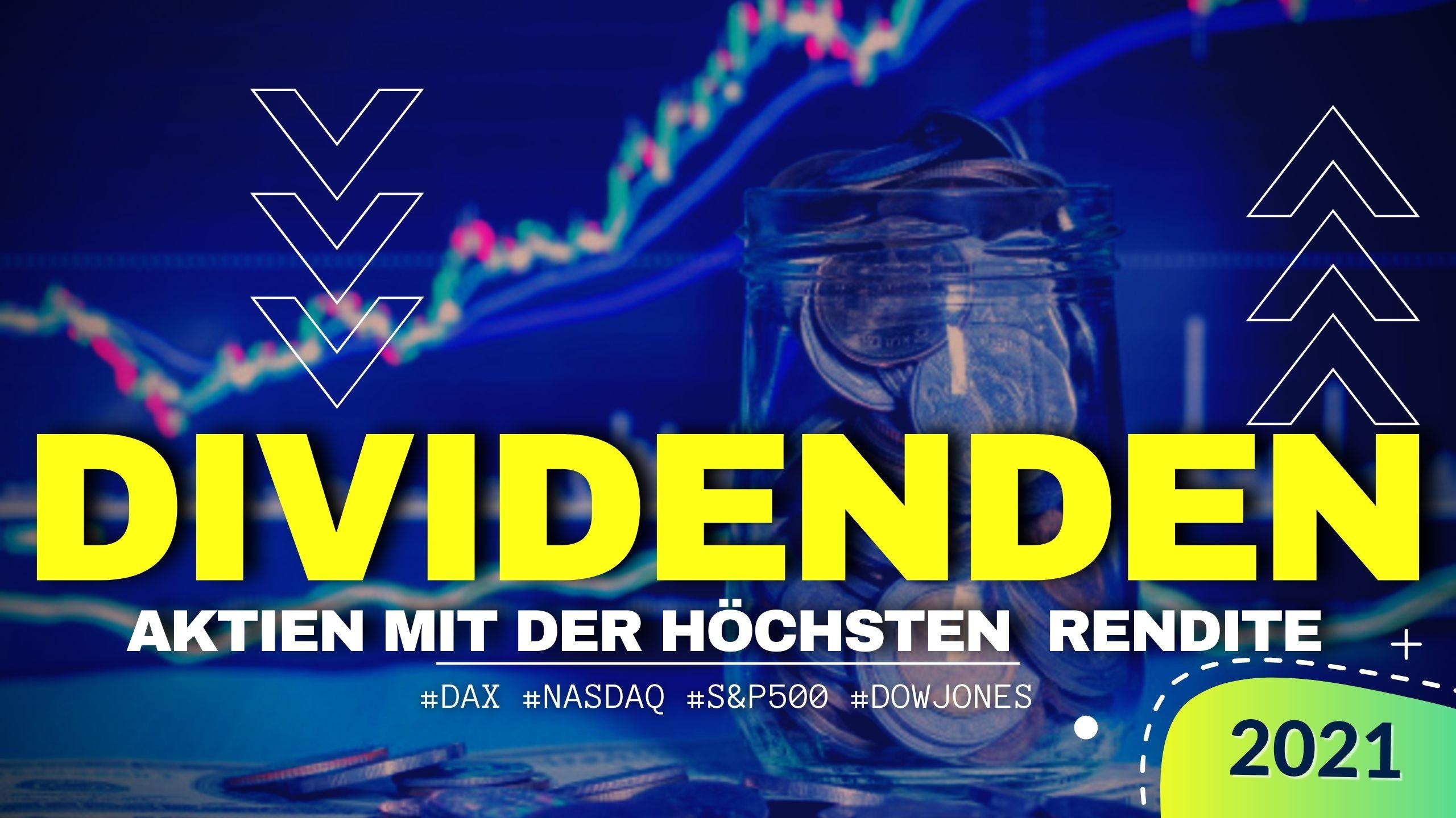 Aktien mit hoher Dividende 2021